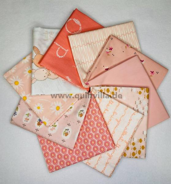 Stoffpäckchen - Color Master rosa - 10 Fat Quarter - 45 x 55 cm