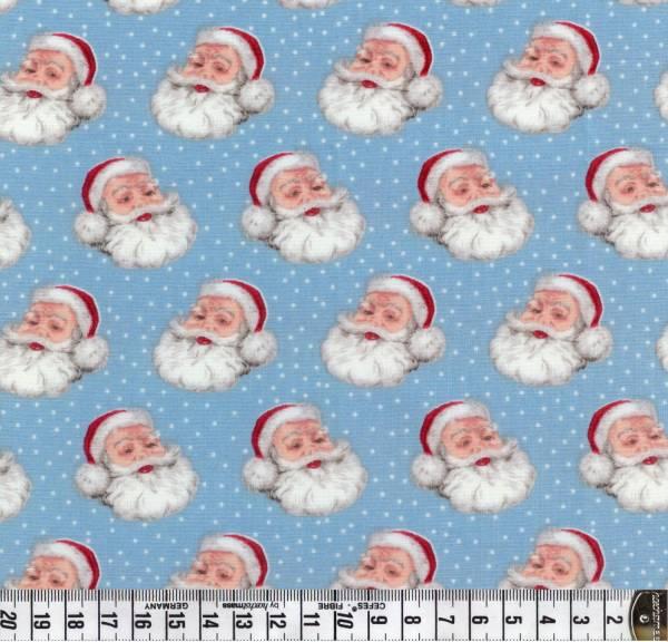 Retro Christmas - Makower - Weihnachten - Weihnachtsmann - blau