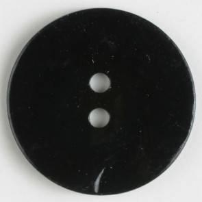 Echter Perlmuttknopf - schwarz - 23 mm