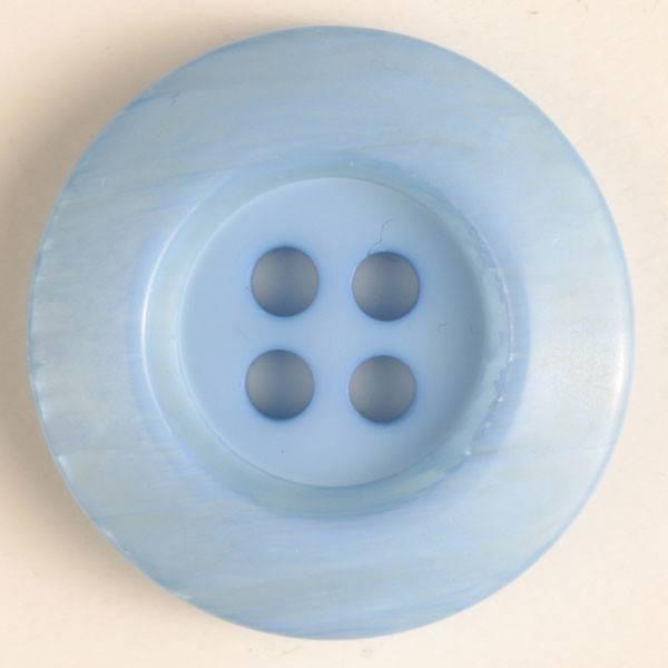 Knopf - blau - 15 mm