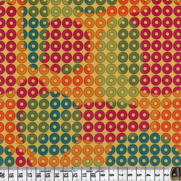 Geo Coaster - Kreise - Gelb - Patchworkstoff