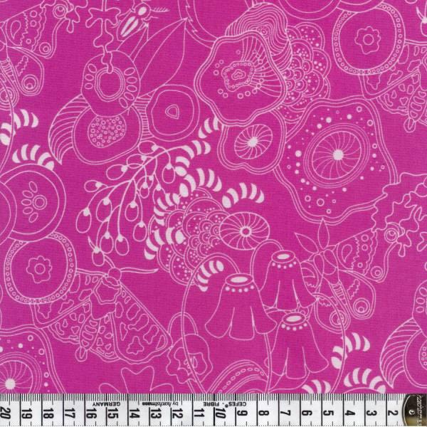 Sun Prints - Alison Glass - Pflanzen - pink - Patchworkstoff