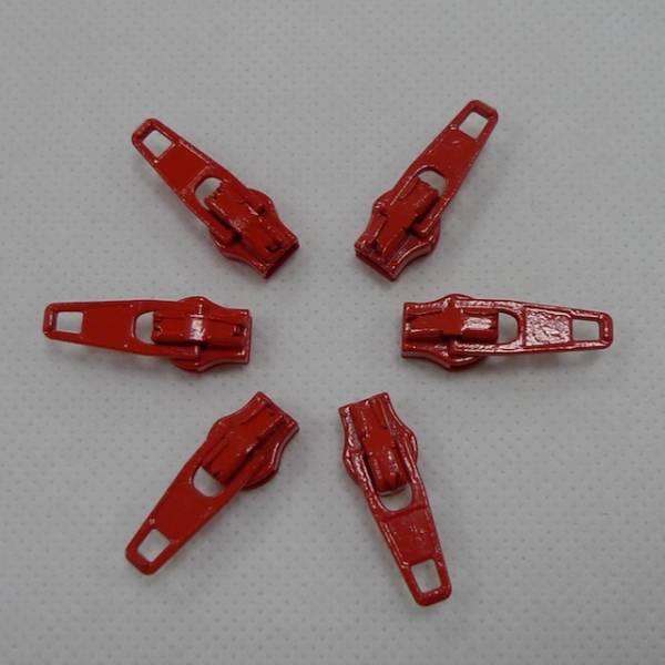 Zipper / Schieber - hochrot - 3 mm
