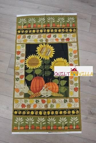 Autumn Bounty - Panel - Kürbis - Sonnenblume