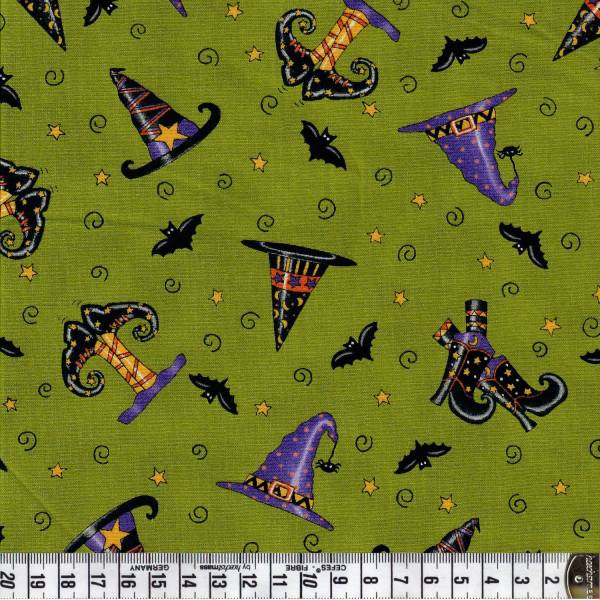 Trick or Treat - Halloween - Hut - Schuhe - grün - Moda